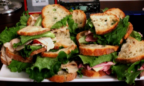 Sandwiches are a staple at most proper coffee shops...